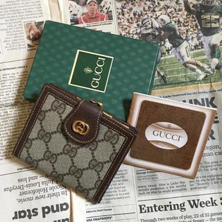 Gucci - 未使用 ヴィンテージ オールド グッチ がま口 ミニ財布