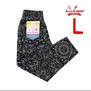 COOKMAN CHEF PANTS ペイズリー ブラック L