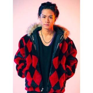 Supreme - 川村壱馬着 supreme diamond faux fur jacket XL