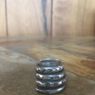 指輪 シルバー リング 銀 フリーサイズ メンズ 男性 タイ製 民族