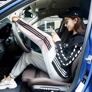 adidas - adidas風 ラインパンツ ジャージ スウェット スキニー ノルディ