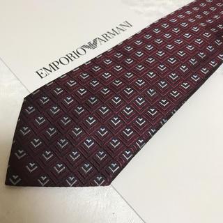 エンポリオアルマーニ(Emporio Armani)の洗練されたデザイン 綺麗なレッド系 贈答にお使いいただけます。(ネクタイ)