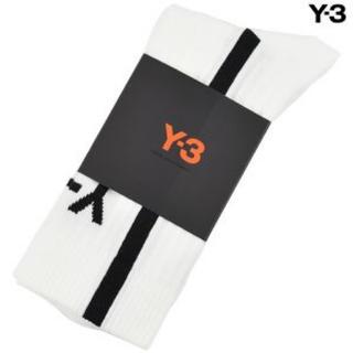 ワイスリー(Y-3)の Y-3 ロゴ ライン ソックス/ホワイト×ブラック(ソックス)
