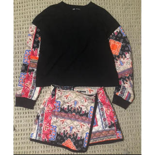 ZARA - 美品 ZARA セットアップ 巻きスカート スウェット キルティング 個性的