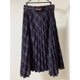 F i.n.t - ビット使いチェックプリーツスカート