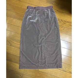 ココディール(COCO DEAL)のベロアタイトスカート モカピンク(ロングスカート)