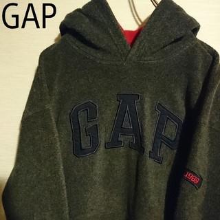 GAP - 【希少】ギャップ GAP フリース素材 パーカー デカロゴ ビッグシルエット