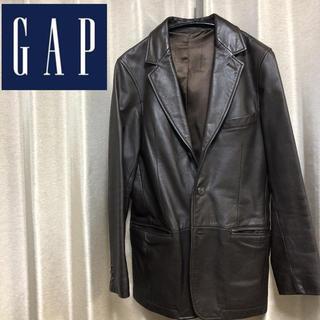 ギャップ(GAP)のGAP ギャップ レザージャケット 【牛革】Sサイズ メンズ 茶色(レザージャケット)