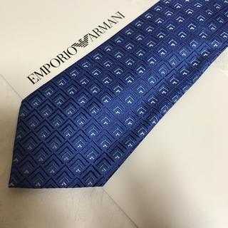 エンポリオアルマーニ(Emporio Armani)の洗練されたデザイン 綺麗なブルー 2019 年秋冬新製品(ネクタイ)