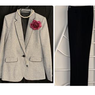 新品◆[Slattgir]◆パンツスーツ◇ツィードジャケット+パンツ◆卒業式など(スーツ)