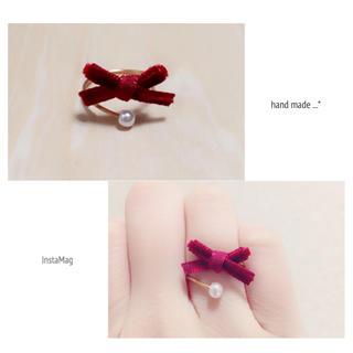 ベロアリボンのワイヤーリング(リング(指輪))
