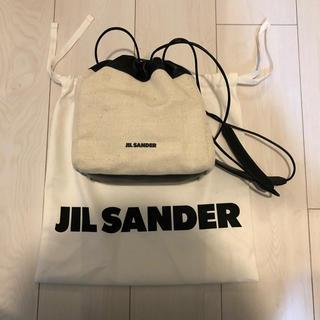 Jil Sander - 新品正規品 Jil Sander 20SS leather canvas bag