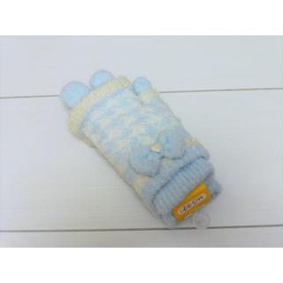 マザウェイズ(motherways)のy24❤motherways ハートリボン重ね手袋 M(5-9才) 新品❤(手袋)