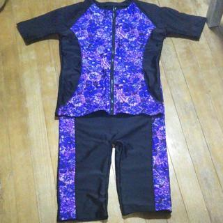 紫と黒の新品未使用の水着 2L~3L用(水着)
