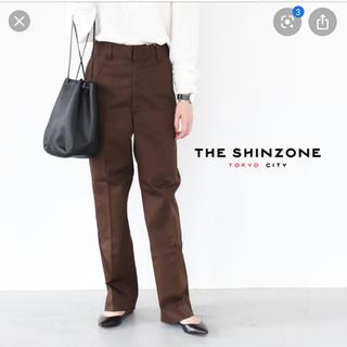シンゾーン(Shinzone)のシンゾーン♡skater pants ブラウン petitサイズ(カジュアルパンツ)