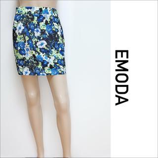 EMODA - EMODA  美品 花柄 タイトスカート GYDA ムルーア JEANASIS