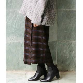 イエナ(IENA)のIENA×Naoko Tsuji デザインラップチェック柄スカート / 34(ロングスカート)