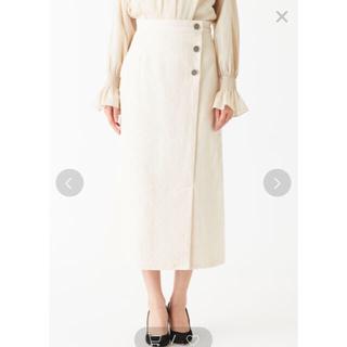 【エメルリファインズ】コーデュロイスカートS オフホワイト(ロングスカート)