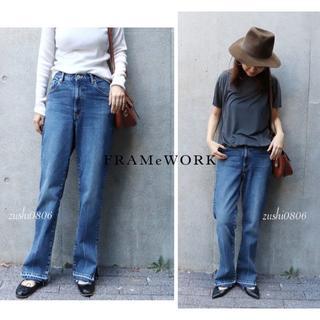 FRAMeWORK - Mature FRAMeWORKサイドスリットデニムパンツ/¥18,700