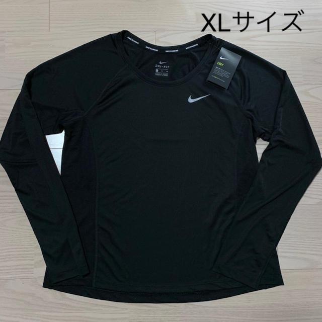NIKE(ナイキ)のNIKE ナイキ レディース 長袖 Tシャツ XLサイズ 婦人 レディースのトップス(Tシャツ(長袖/七分))の商品写真