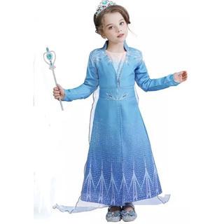 アナと雪の女王 - 新作 アナ雪2 エルサ風ドレス 単品