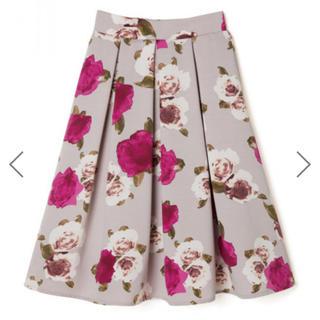 グレイル(GRL)のGRL グログラン花柄フレアスカート Ꮇ(ひざ丈スカート)