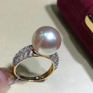 【スペシャル価格】南洋パール ダイヤモンドリング 11-12mm(リング(指輪))
