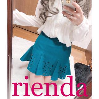 リエンダ(rienda)の1523.rienda スエード調 フレア ミニスカート キュロット(キュロット)