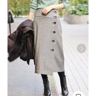 IENA - IENA (イエナ) ヘリンボンツイード前ボタンスカート