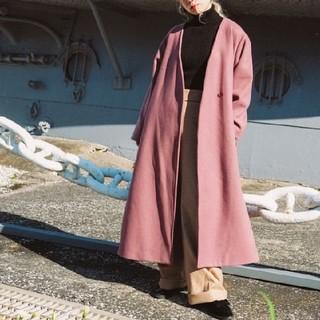 MARTE Bi Color Belt Gown Coat(ロングコート)
