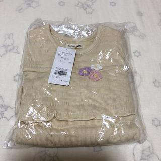 ビケット(Biquette)の未開封 新品 ビケット Biquette 長袖 ロンT 100 フリル 花(Tシャツ/カットソー)
