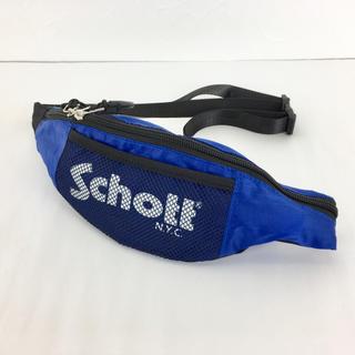ショット(schott)のSchott N.Y.C ショット ナイロンウエストバッグ ポーチ ブルー(ウエストポーチ)