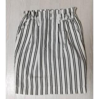 ダブルクローゼット(w closet)のダブルクローゼット ストライプタイトスカート(ひざ丈スカート)