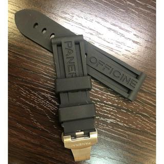 パネライ PANERAI ラバーベルト 24mm 交換用 シルバー 対応