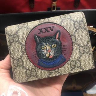 Gucci - GUCCI 猫 二つ折り財布