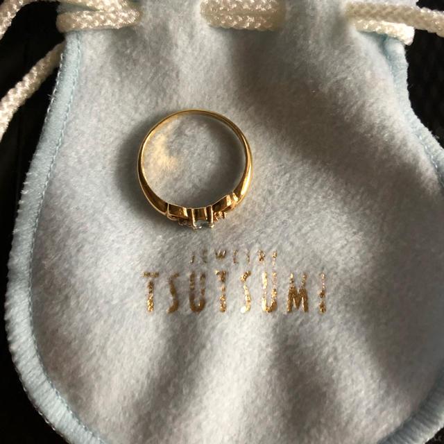 JEWELRY TSUTSUMI(ジュエリーツツミ)のK18 アクアマリン リング レディースのアクセサリー(リング(指輪))の商品写真