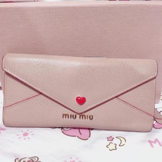miumiu - miumiu ラブレター型長財布