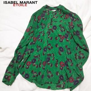 Isabel Marant - イザベルマラン シルク混花柄ブラウス