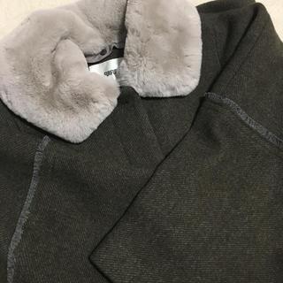 ファーファー(fur fur)のfurfur エコファーカラーコクーンコート(ロングコート)
