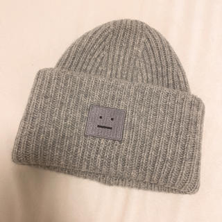 アクネ(ACNE)のacne studiosニット帽 ニットキャップ グレー(ニット帽/ビーニー)