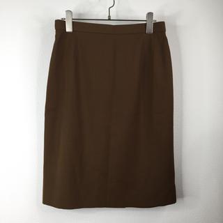 セリーヌ(celine)のセリーヌ CELINE スカート ブラウン サイズ42 ウール 上品 レディース(ひざ丈スカート)