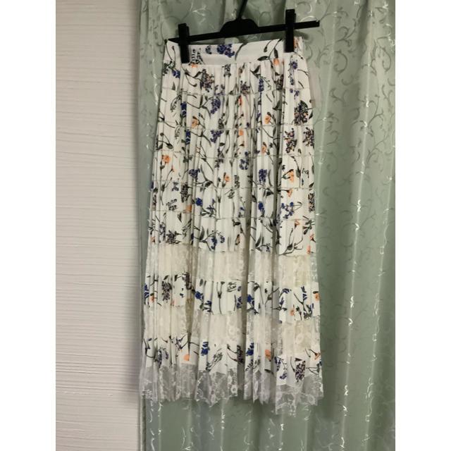 MERCURYDUO(マーキュリーデュオ)のレースプリーツスカート レディースのスカート(ロングスカート)の商品写真
