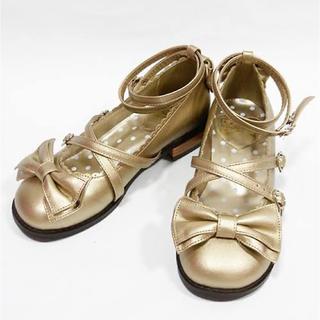 アンジェリックプリティー(Angelic Pretty)のAngelic Pretty Tea Party shoes ゴールド L(ハイヒール/パンプス)