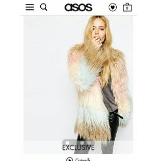 エイチアンドエム(H&M)のasos エコファーグラデーションコート(毛皮/ファーコート)