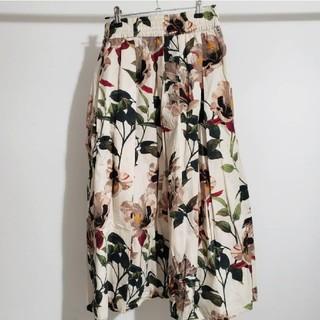 ザラ(ZARA)のZARA 花柄スカート(ロングスカート)