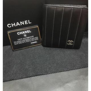 CHANEL - SALE!シャネル 美品 ニューマドモアゼルライン ココマーク付き二つ折り財布