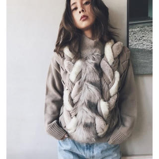 Ameri VINTAGE - FUR BRAID CABLE KNIT