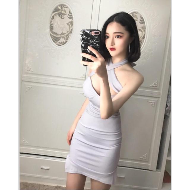 デコルテショルダークロスドレス レディースのフォーマル/ドレス(ナイトドレス)の商品写真