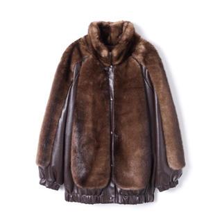 PERVERZE Combination Faux Fur Blouson