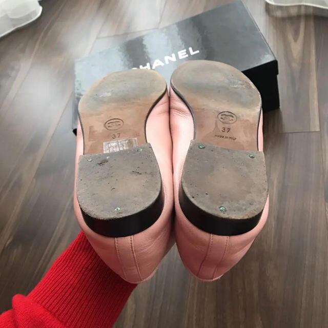 CHANEL(シャネル)のCHANEL シューズ 37サイズ 24cm ピンク 美品 レディースの靴/シューズ(バレエシューズ)の商品写真